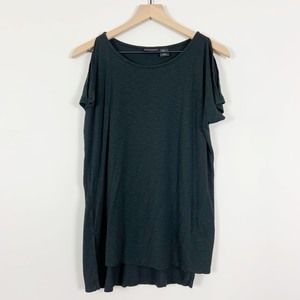 TAHARI Cold Shoulder Knit Top